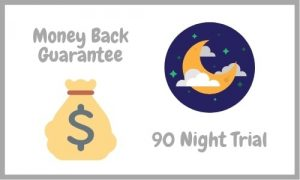 Money Back Guarantee & 90 Night Trial