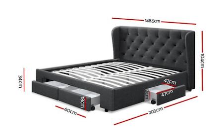 Dionte Storage Bed Measurements